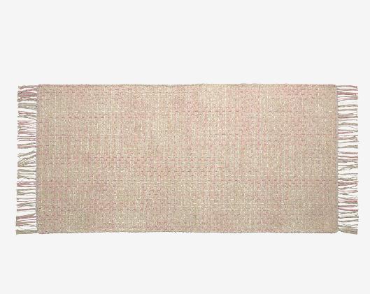 Alfombra algodón orgánico color rosa