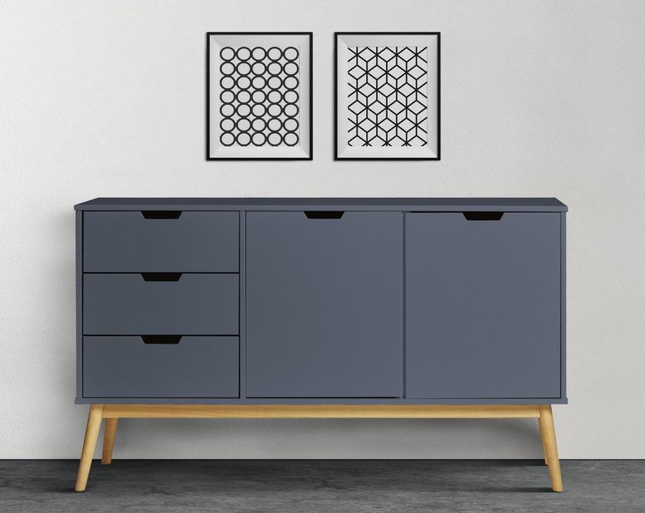 Aparador nordico gris madera de pino 140x80