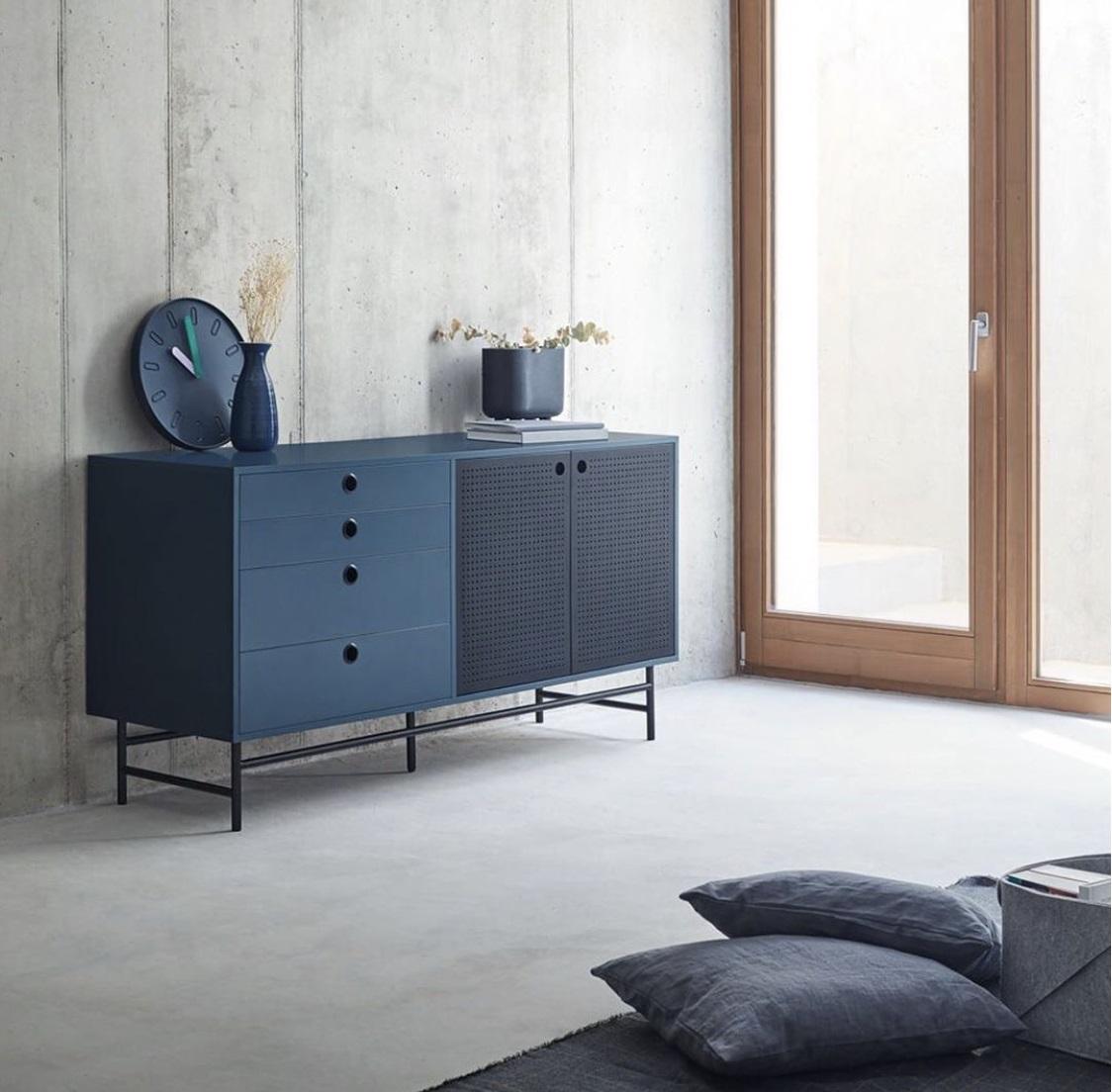 Aparador industrial Punto metal azul 150cm