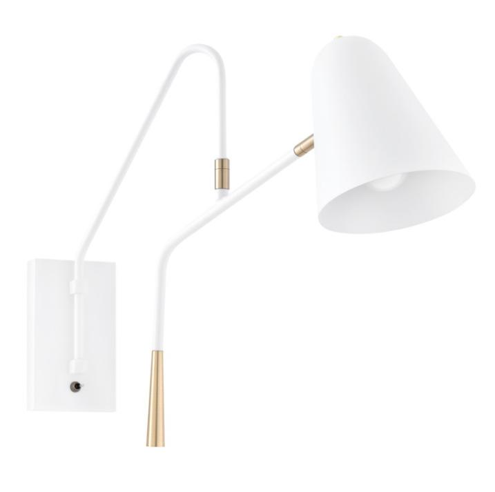 Lámpara aplique Aliga de metal blanco
