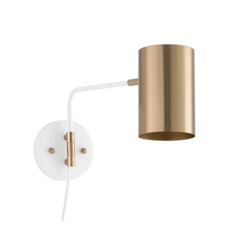 Lámpara aplique Talaia de metal blanco