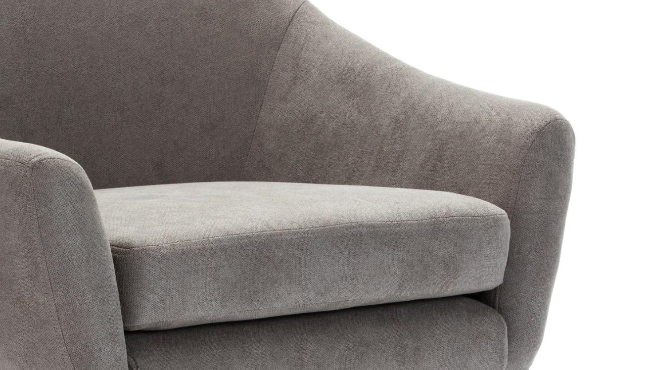 Butaca curva tela gris SL-892