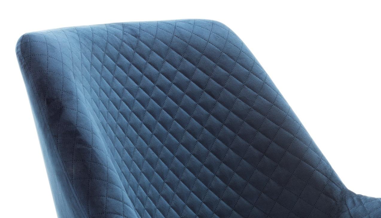 Butaca recta terciopelo azul SL-893