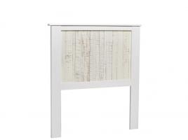 Cabezal Flora madera pino blanco 90x190
