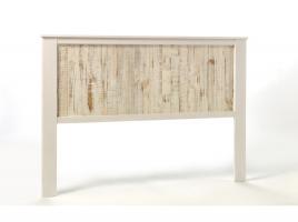 Cabezal Flora madera pino blanco 150x190