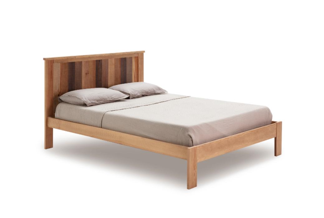 Cama Maude madera de pino natural 135x190 cm