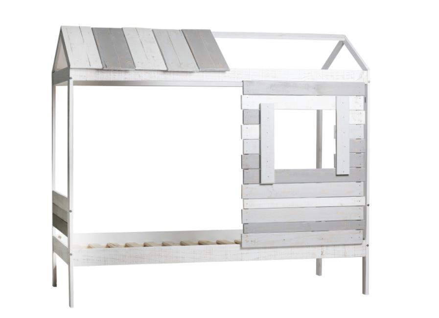Cama cabaña juventil Sia-2 madera de pino 90x190 cm