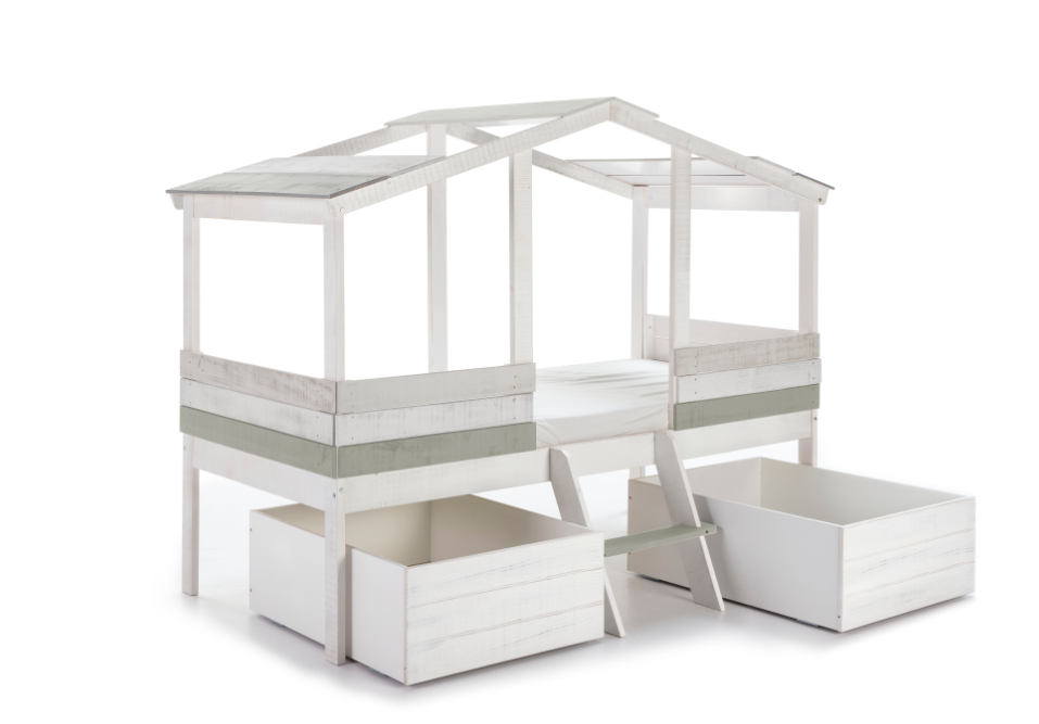 Set 2 cajones cabaña ULISES blanco