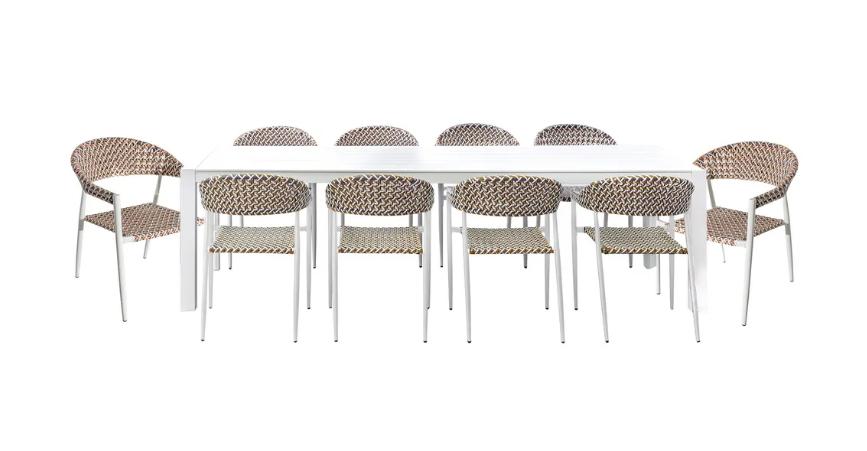 Set de comedor Nadia mesa y 10 sillas