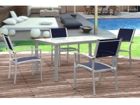 Mesa terraza aluminio Benidorm 150x90