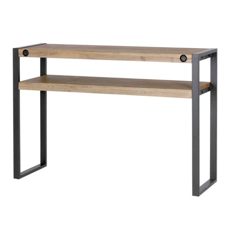 Consola Boston madera de acacia y estructura de metal