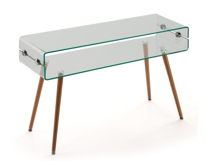 Consola nordica cristal transparente 120x40 cm