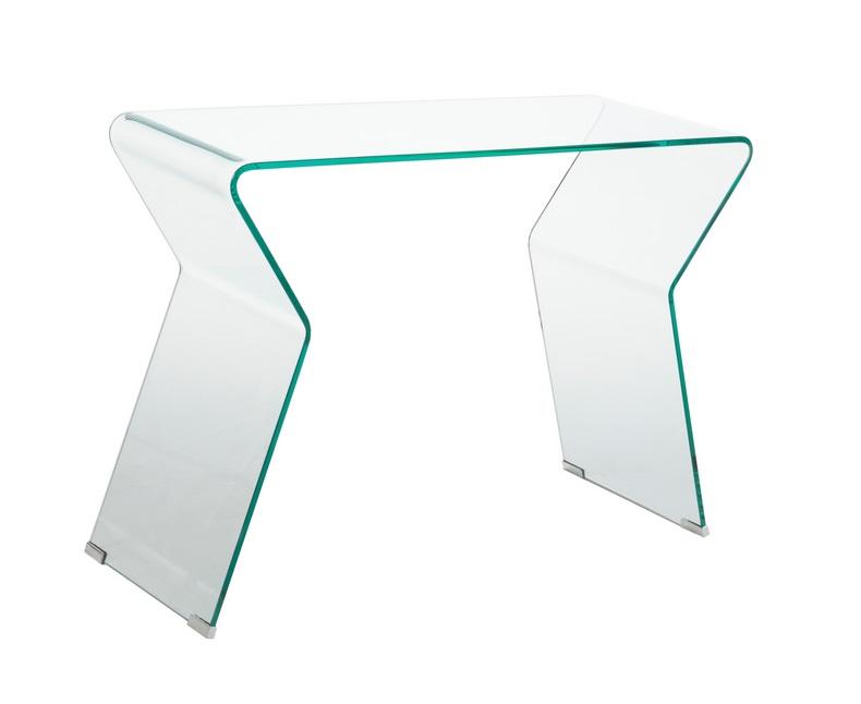 Consola cristal curvado 105x40 CON-08