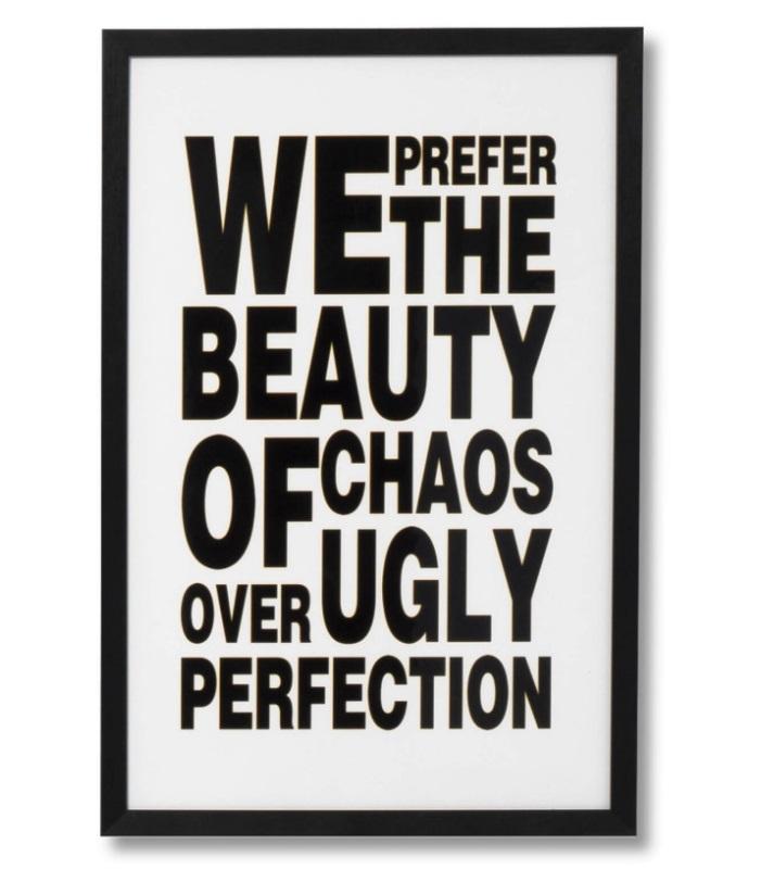 Cuadro Beauty negro 40x60 cm