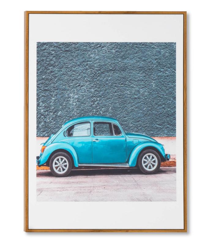 Cuadro Bettle Blue 50x70 cm