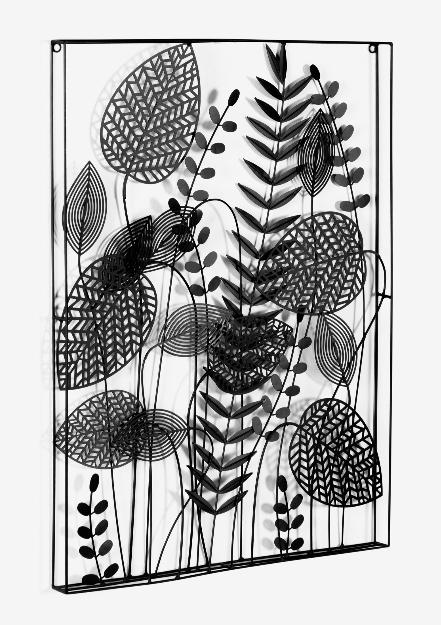 Cuadro Botánica metal negro 61x81cm