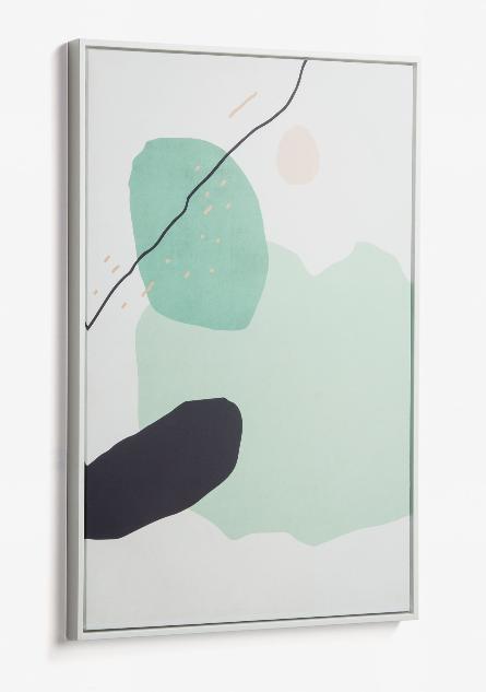 Cuadro Dali 60x90 cm verde