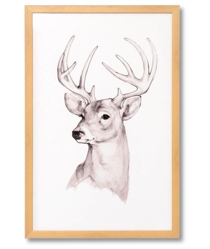 Cuadro Deer roble 40x60 cm