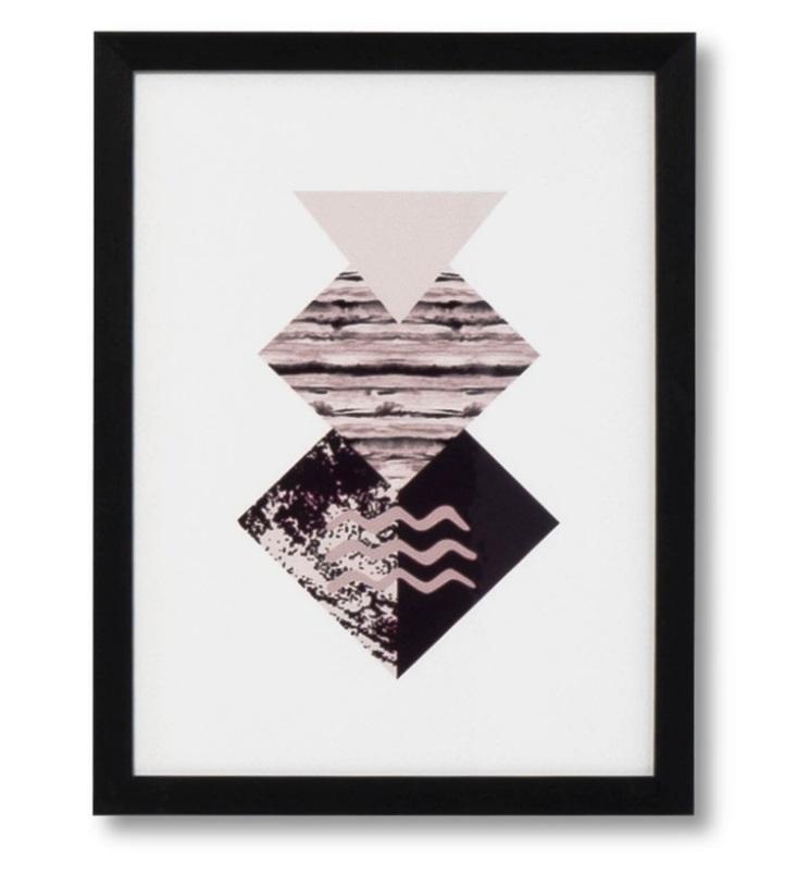 Cuadro Diamond negro 30x40 cm
