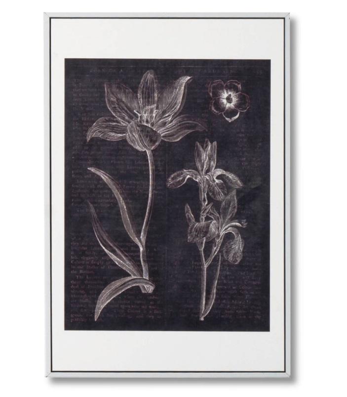 Cuadro Flowers blanco 40x60 cm