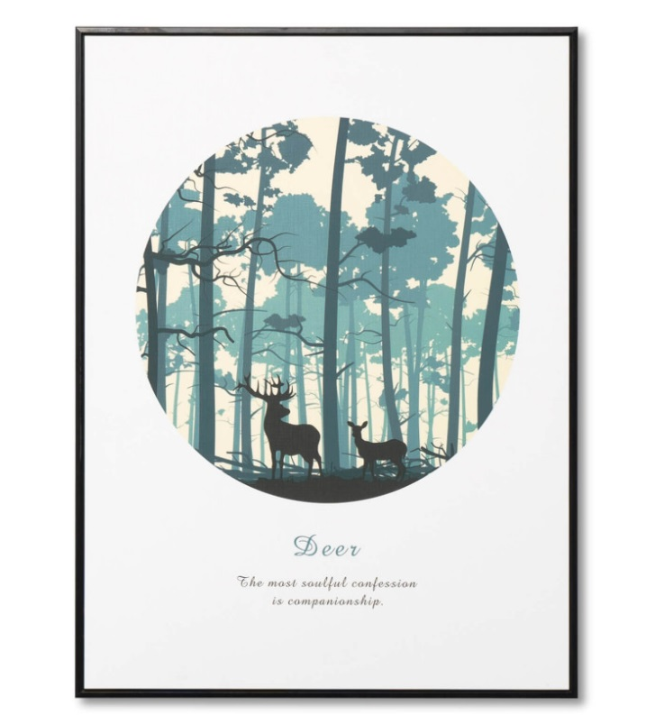 Cuadro Forest negro 60x80 cm