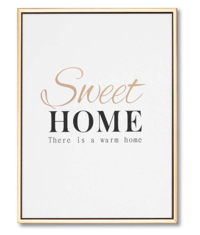 Cuadro Golden Home 30x40 cm
