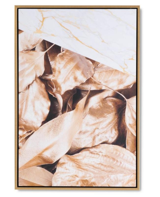 Cuadro Golden Leave 40x60 cm