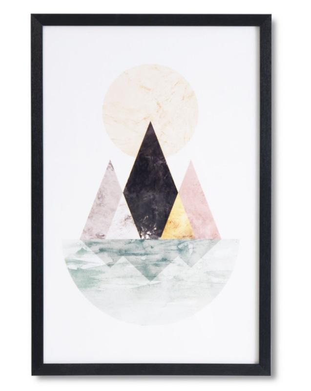 Cuadro Isla negro 40x60 cm