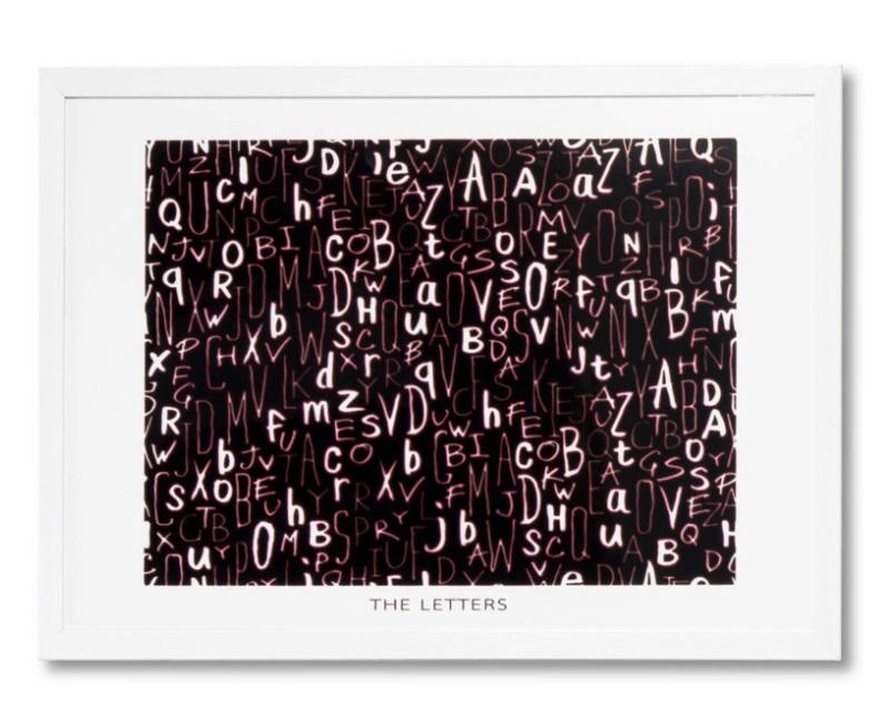 Cuadro Letter blanco 60x40 cm
