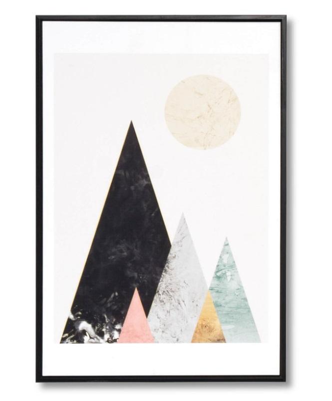 Cuadro Mountains negro 40x60 cm