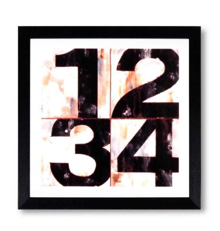 Cuadro Number negro 30x30 cm