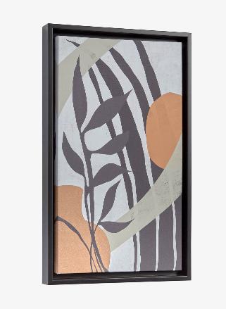 Cuadro Organic 50x30 cm blanco