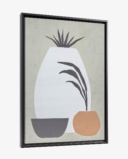 Cuadro Organic 50x70 cm gris