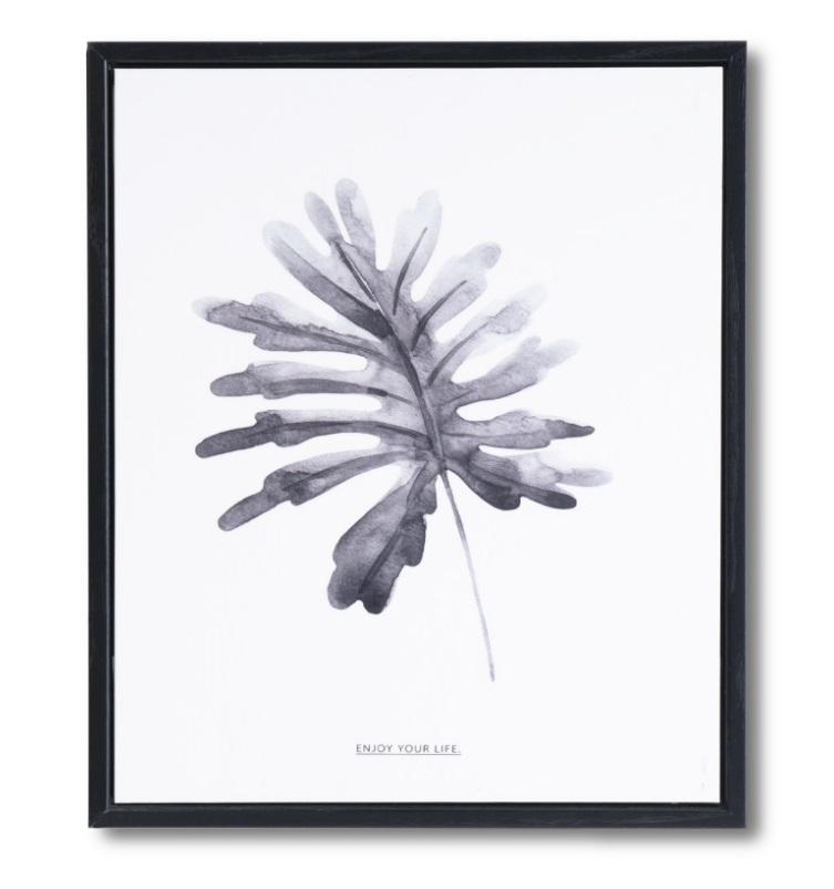 Cuadro Palma negro 25x30 cm