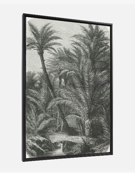 Cuadro Palmeras 60x90 cm gris