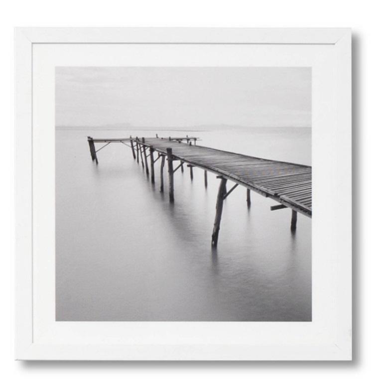 Cuadro Pier blanco 40x40 cm