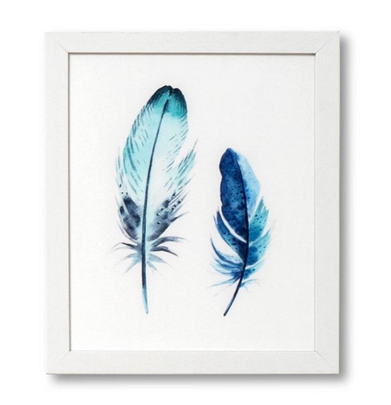 Cuadro Pluma blanco 25x30 cm