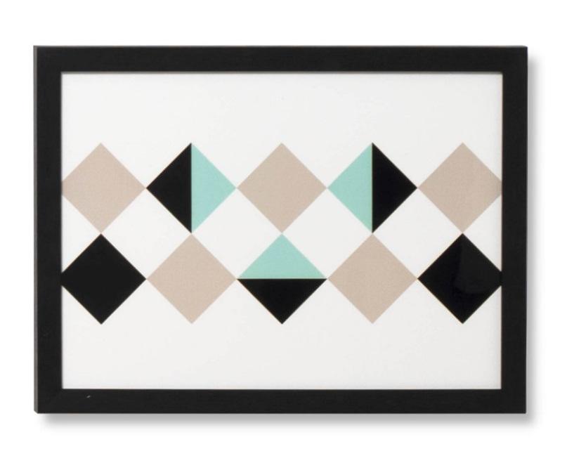Cuadro Rhomb negro 40x30 cm
