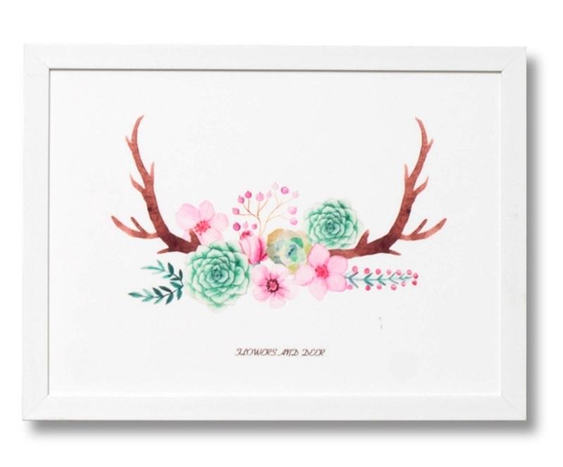Cuadro Roses blanco 40x30 cm