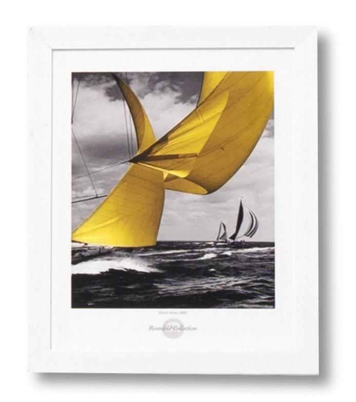 Cuadro Sail blanco 25x30 cm
