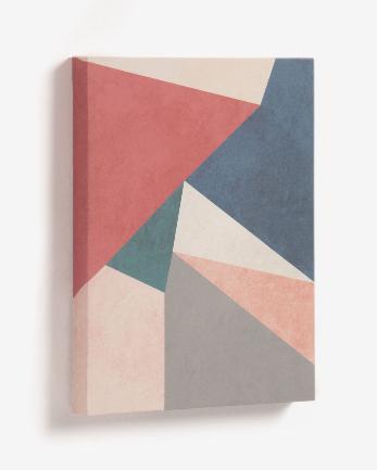 Cuadro Gala triángulo rojo 28x35 cm
