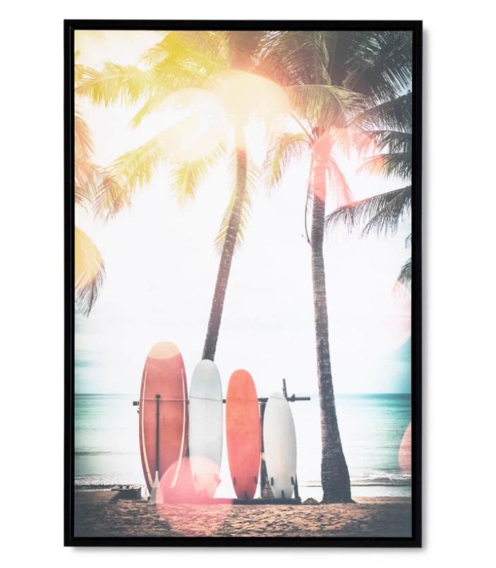 Cuadro Surf negro 40x60 cm