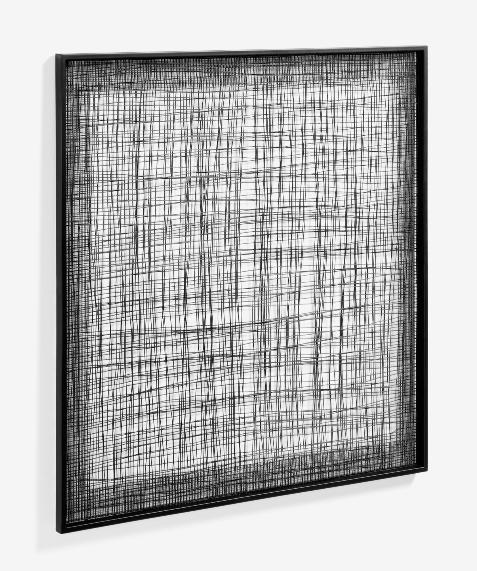 Cuadro Telaraña metal negro 79x79 cm