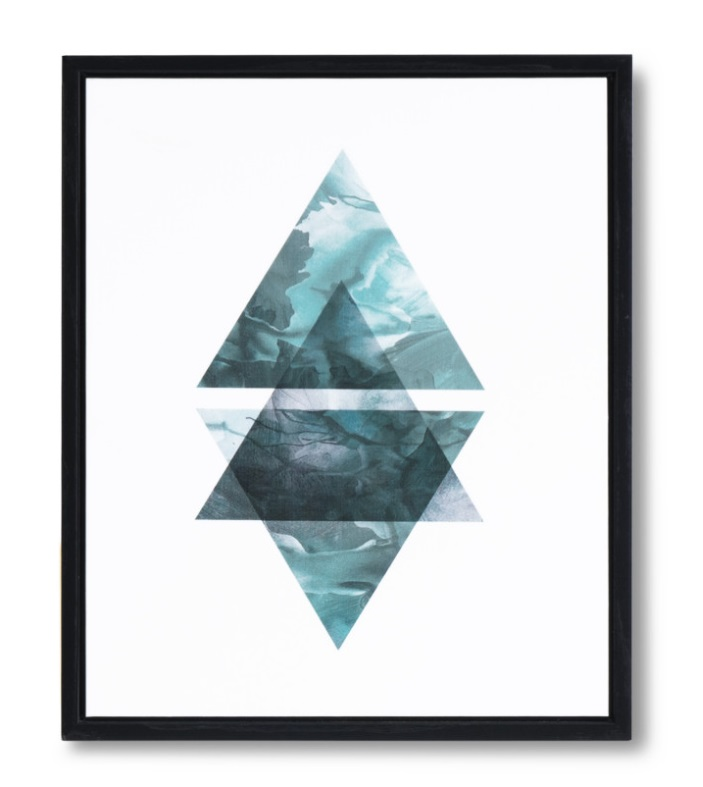 Cuadro Triangulo negro 25x30 cm