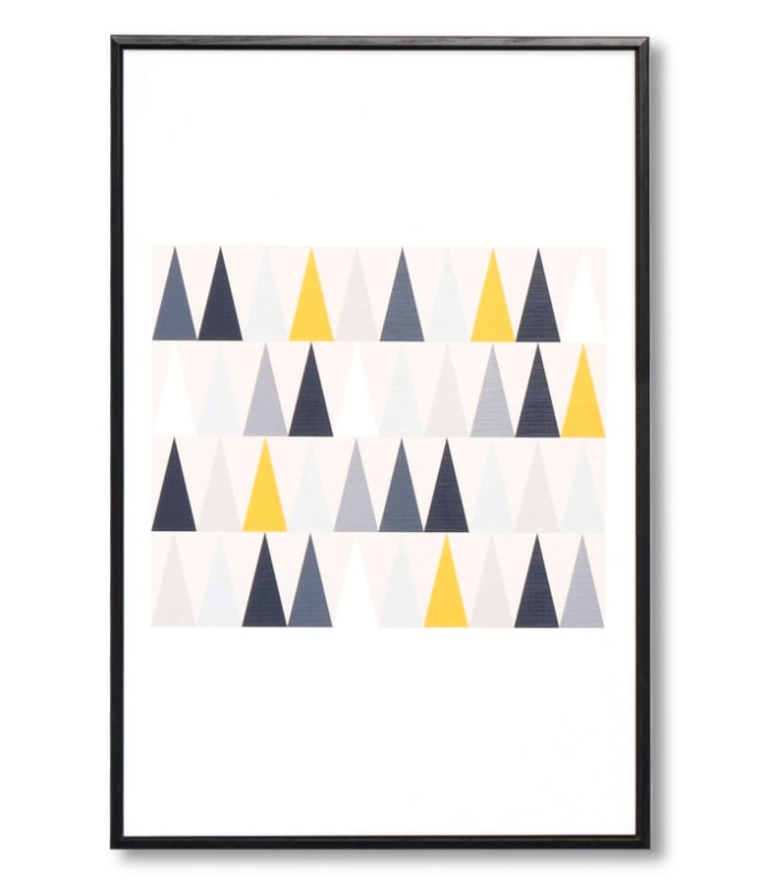 Cuadro Triangulos negro 40x60 cm