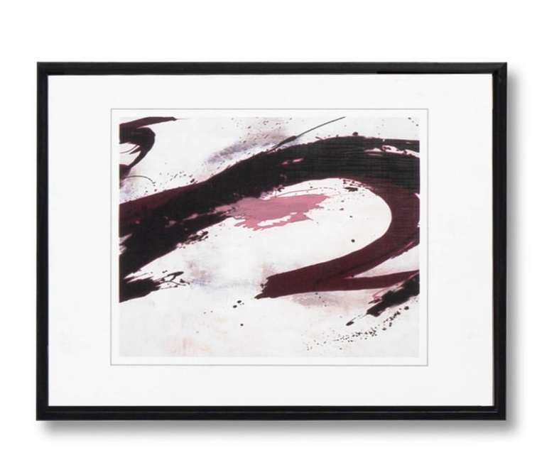 Cuadro Wave negro 40x30 cm
