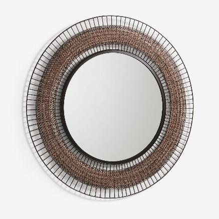Espejo Anna de acero 90 cm