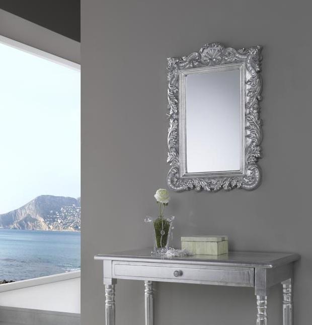 Espejo clasico plata dorado 73x48 PU-001