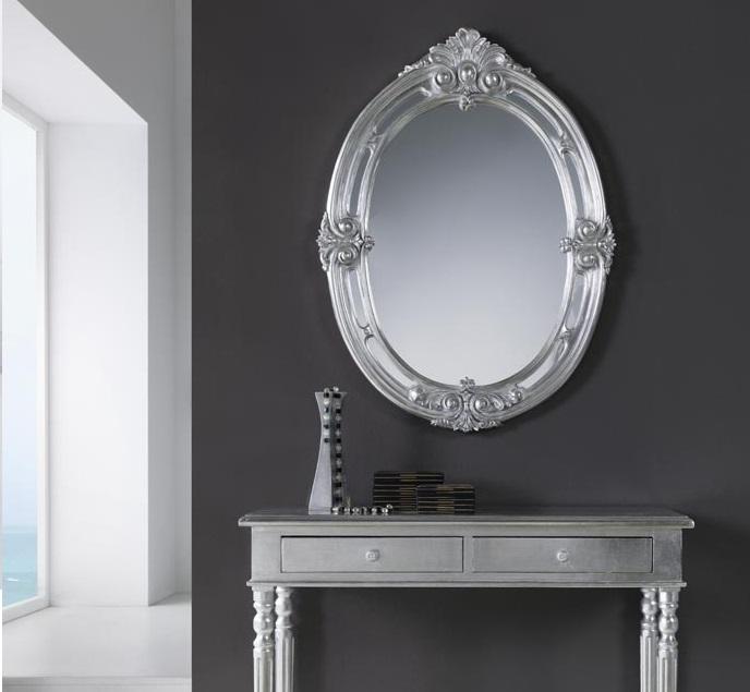 Espejo clasico barroco plata 101x75 PU-046