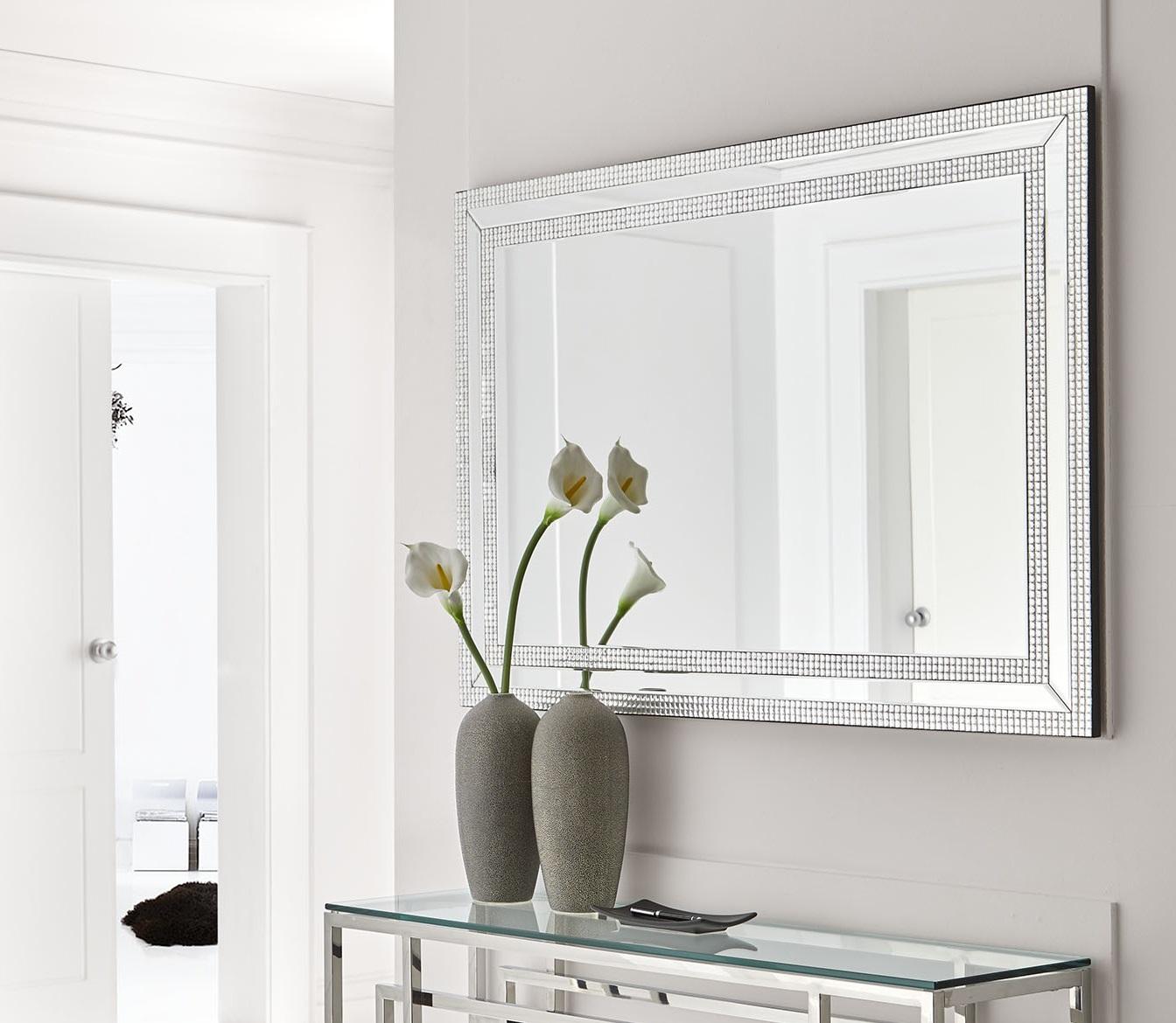 Espejo decorado cristales 120x80 E-127